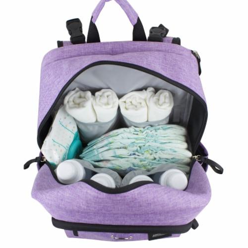 Bodhi Baby Rubin Weekender Tech Diaper Backpack - Purple Chambray Perspective: bottom
