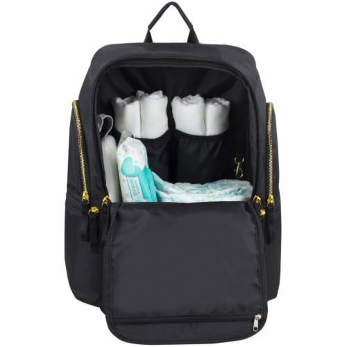 Bodhi Baby Lafayette Street Diaper Backpack - Black Perspective: bottom