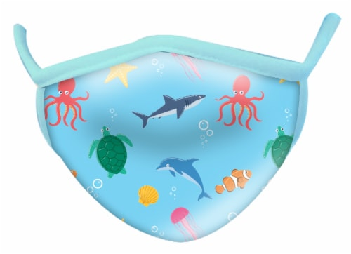 Wild Republic Assorted Aquatic Adult Face Masks Perspective: bottom