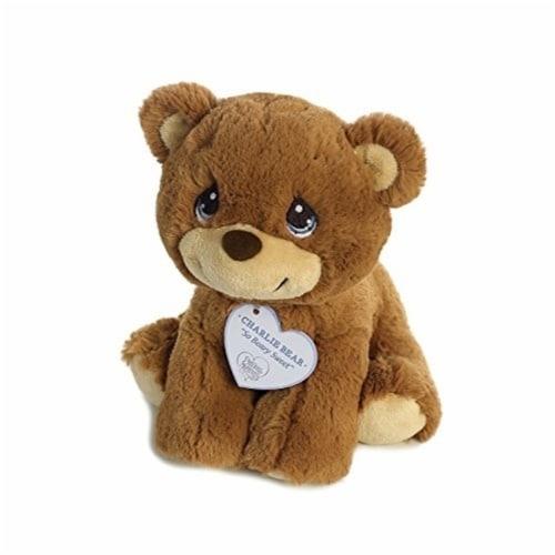 "Aurora World Precious Moments So Beary Sweet Charlie Bear Plush, 8.5"", Brown Perspective: bottom"