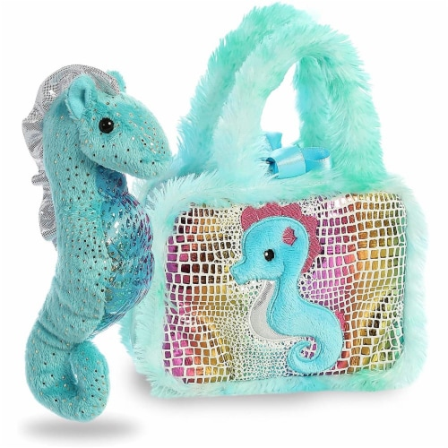 Aurora World Pet Carrier Plush Toy Animal, Fancy Pals Seahorse Perspective: bottom