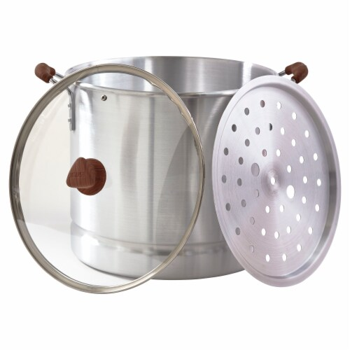 IMUSA Steamer and Glass Lid - Silver Perspective: bottom
