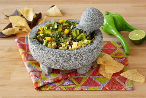 IMUSA Granite Molcajete Mexican Mortar and Pestle - Gray Perspective: bottom
