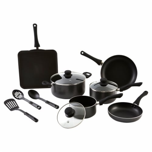 IMUSA Nonstick Cookware Set - Charcoal Perspective: bottom