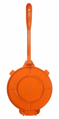 IMUSA Cast Aluminum Tortilla Press - Orange Perspective: bottom