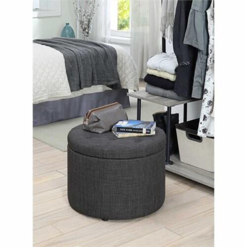Designs4Comfort Round Shoe Ottoman Perspective: bottom