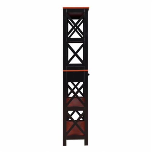 Oxford 5 Tier Bookcase with Drawer Perspective: bottom