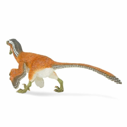 Feathered Velociraptor Toy Perspective: bottom