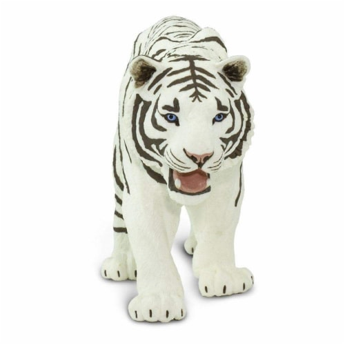 White Siberian Tiger Toy Perspective: bottom