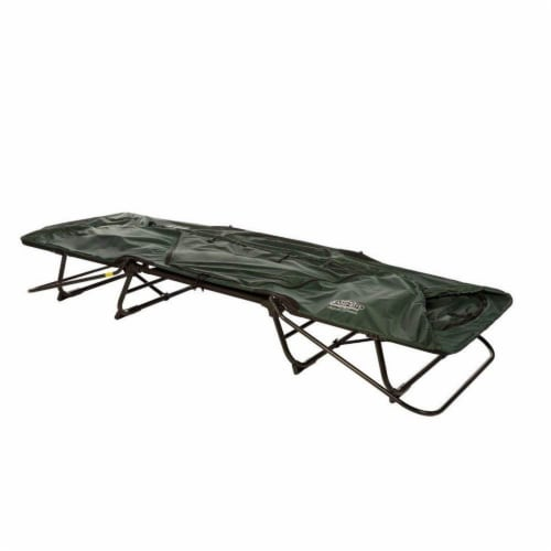 Kamp-Rite Oversize Portable Versatile Cot, Chair, and Tent, Easy Setup, Green Perspective: bottom