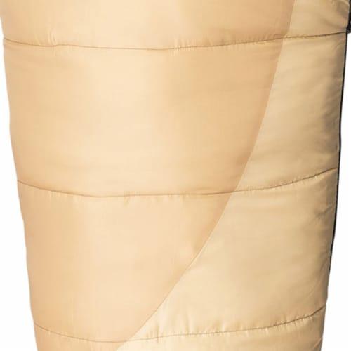 Kamp-Rite 35 x 78 Inch Mummy Camping Style Rip Stop Sleeping Bag 20 Degree, Tan Perspective: bottom