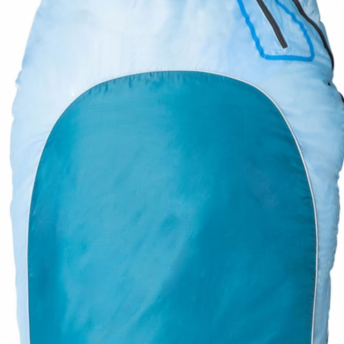 Kamp-Rite 35 x 78 Inch Mummy Style Rip Stop Sleeping Bag 0 Degree, Blue 2 Tone Perspective: bottom