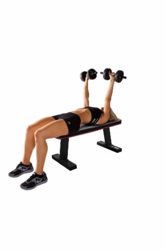 Marcy Multipurpose Home Gym Workout Utility Flat Board Bench | SB-10510 Perspective: bottom