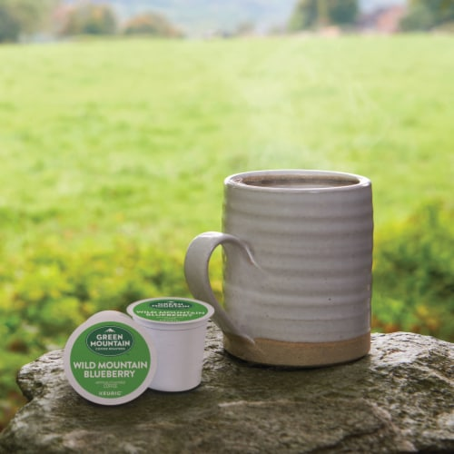 Green Mountain Coffee Wild Mountain Blueberry Flavored Coffee K-Cup Pods Perspective: bottom