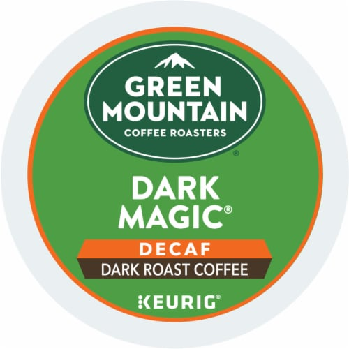 Green Mountain Coffee Roasters Decaf Dark Magic Dark Blend K-Cup Pods Perspective: bottom