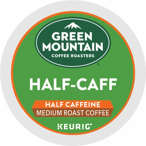 Green Mountain Coffee Roasters Half-Caff Medium Roast Coffee K-Cup Pods Perspective: bottom