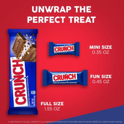 Crunch Creamy Milk Chocolate & Crisped Rice Easter Bunny Perspective: bottom