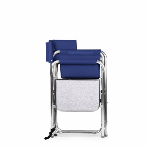 Sports Chair, Navy Blue Perspective: bottom