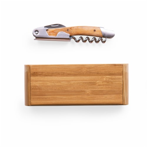 Elan Deluxe Corkscrew In Bamboo Box, Bamboo Perspective: bottom