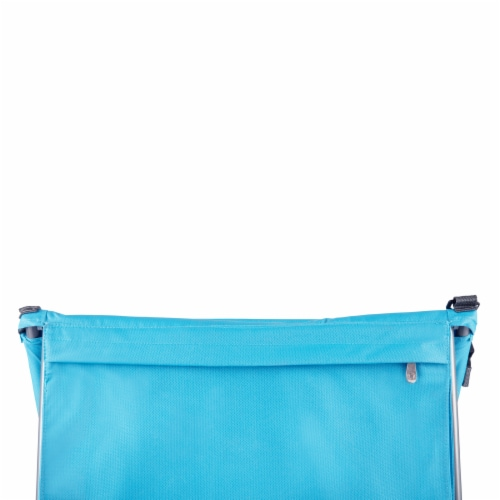 Beachcomber Portable Beach Chair & Tote, Blue Perspective: bottom