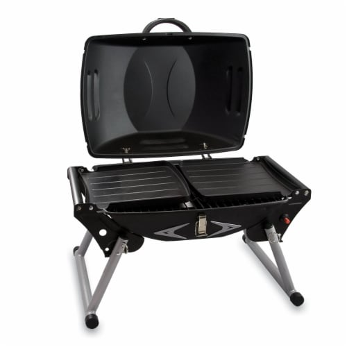 Portagrillo Portable Propane BBQ Grill, Black with Gray Accents Perspective: bottom
