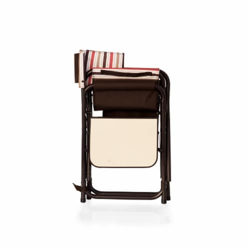 Sports Chair, Moka Collection - Brown with Beige & Red Accents Perspective: bottom