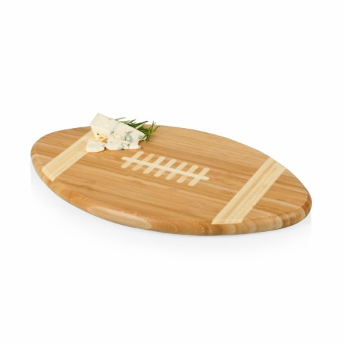 Touchdown! Football Cutting Board & Serving Tray, Bamboo Perspective: bottom