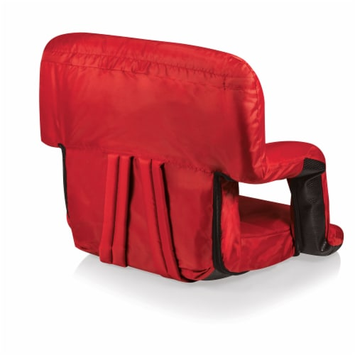 Ventura Portable Reclining Stadium Seat, Red Perspective: bottom
