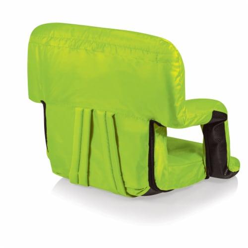 Ventura Portable Reclining Stadium Seat, Lime Green Perspective: bottom