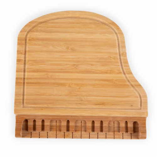 Piano Cheese Cutting Board & Tools Set, Bamboo Perspective: bottom