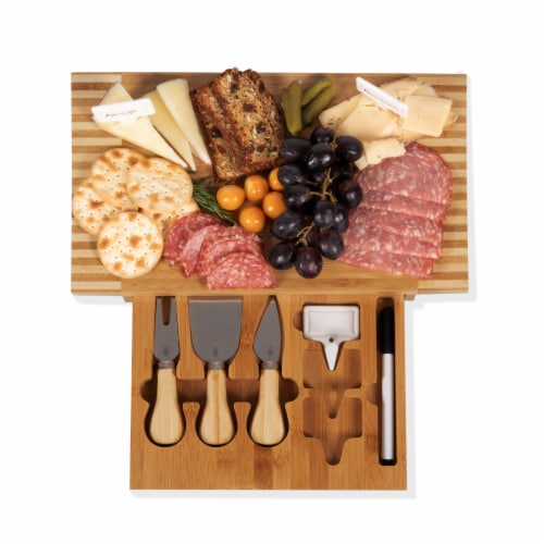 Concavo Cheese Cutting Board & Tools Set, Bamboo Perspective: bottom