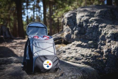 Pittsburgh Steelers PTX Cooler Backpack - Black Perspective: bottom