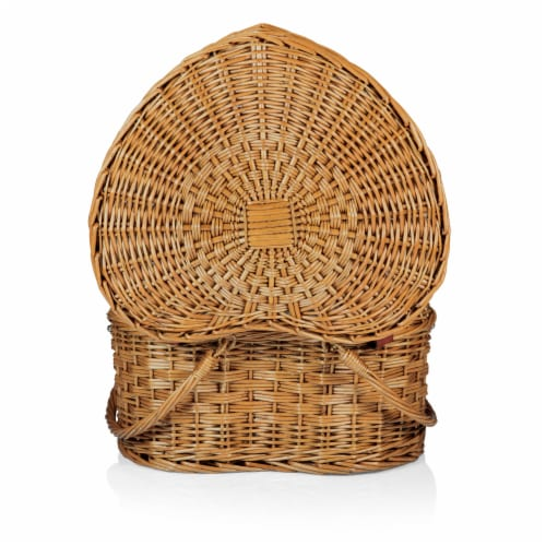Heart Picnic Basket, Antique White Perspective: bottom