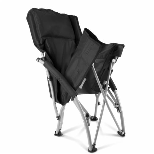 Tranquility Portable Beach Chair, Black Perspective: bottom