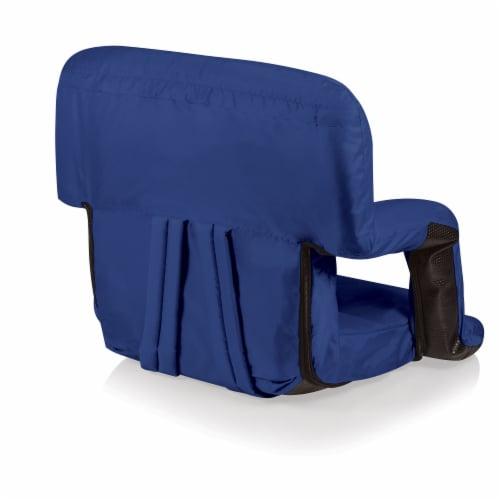 Ventura Portable Reclining Stadium Seat - Navy Blue Perspective: bottom