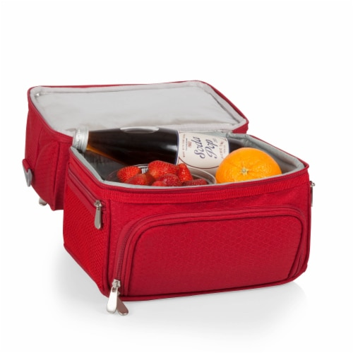 Pranzo Lunch Cooler Bag, Red Perspective: bottom