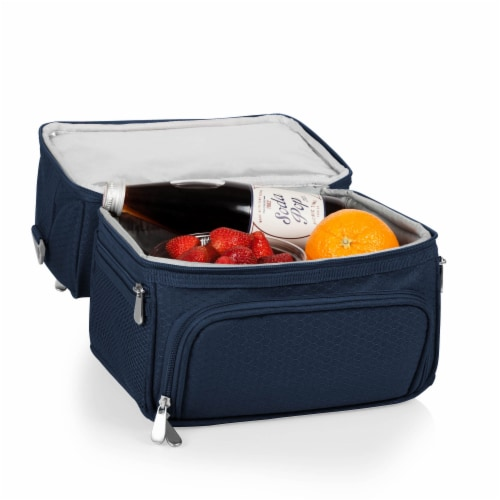 Pranzo Lunch Cooler Bag, Navy Blue Perspective: bottom