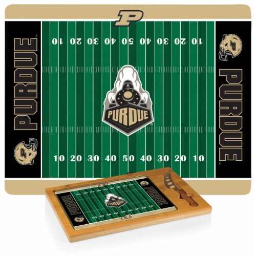 Purdue Boilermakers - Icon Glass Top Cutting Board & Knife Set Perspective: bottom