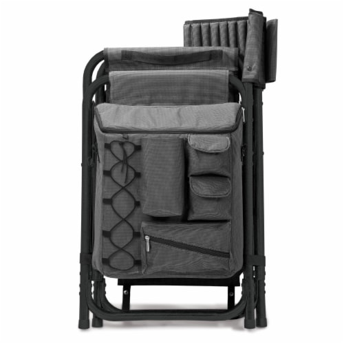 Oklahoma Sooners - Fusion Backpack Chair with Cooler Perspective: bottom