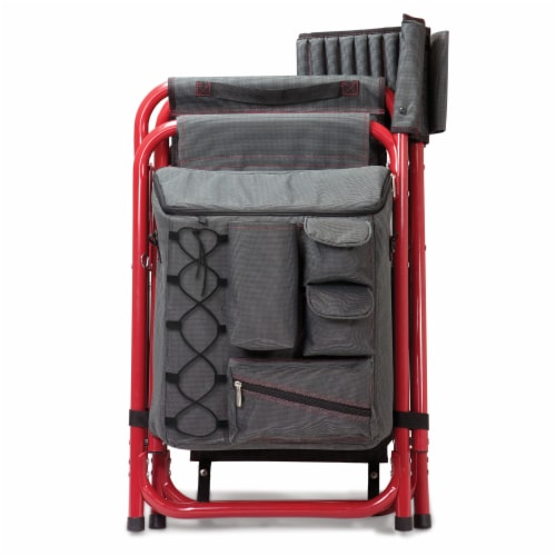 Louisville Cardinals - Fusion Backpack Chair with Cooler Perspective: bottom