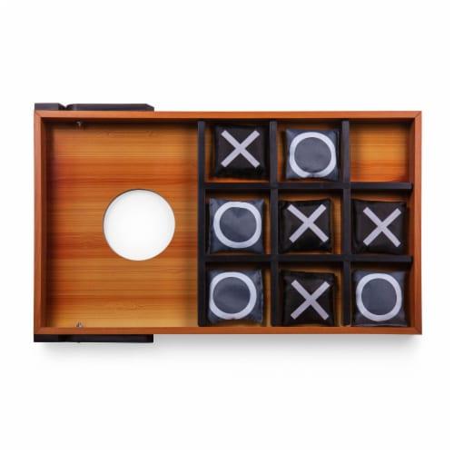 Mini Bean Bag Throw Game, Wood Grain Perspective: bottom