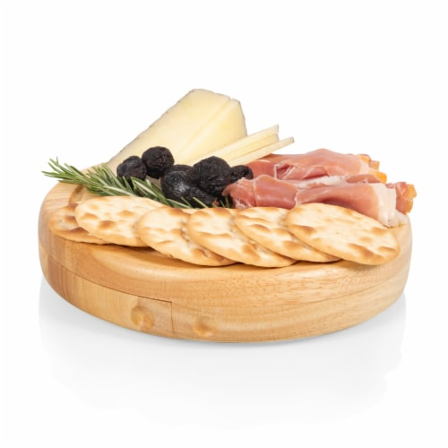 Clemson Tigers - Brie Cheese Cutting Board & Tools Set Perspective: bottom