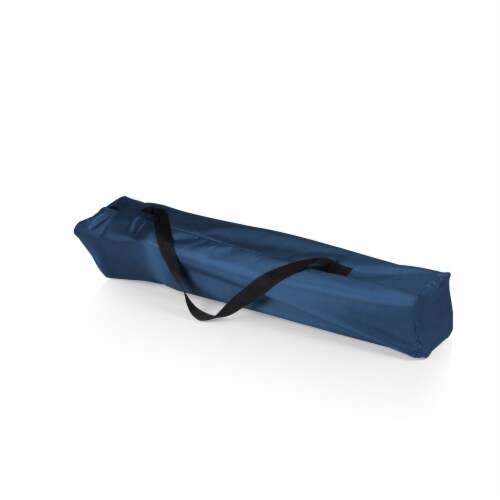 Outlander Folding Camp Chair with Cooler, Navy Blue Perspective: bottom