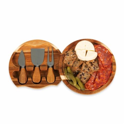 Acacia Brie Cheese Cutting Board & Tools Set, Acacia Wood Perspective: bottom