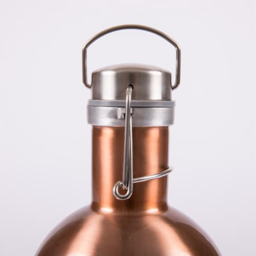 Stainless Steel 64 oz. Growler, Copper Perspective: bottom