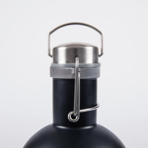 Stainless Steel 64 oz. Growler, Matte Black Perspective: bottom
