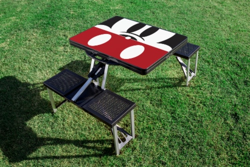 Disney Mickey Mouse - Picnic Table Portable Folding Table with Seats, Black Perspective: bottom
