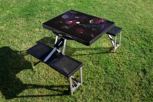 Star Wars Death Star - Picnic Table Portable Folding Table with Seats, Black Perspective: bottom