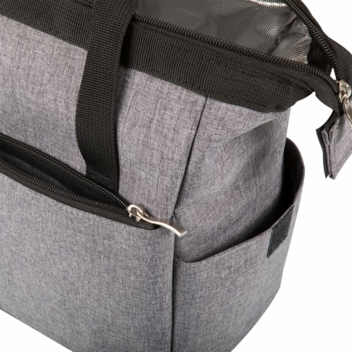 On The Go Lunch Cooler, Heathered Gray Perspective: bottom