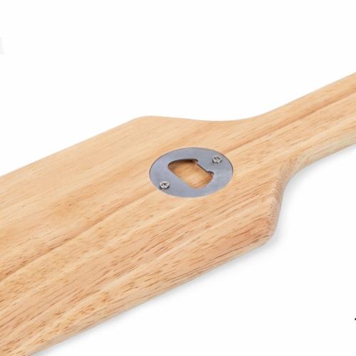 Hardwood BBQ Grill Scraper with Bottle Opener, Rubberwood Perspective: bottom